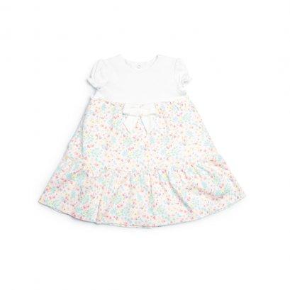 Tiered Print Dress(สอบถามสต็อค และ ไซต์ ที่ Line ID :@mommories)