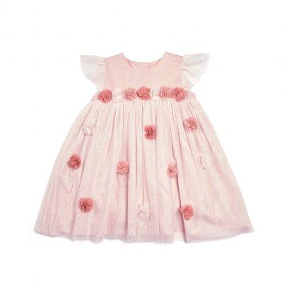 Lace 3D Floral Dress