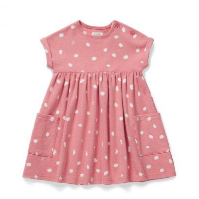 Spot Print Jersey Dress
