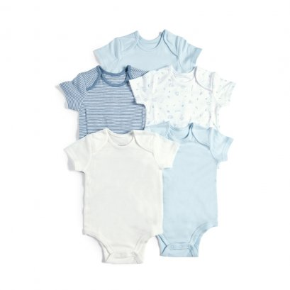 5 Pack Bodysuits Blue Farm
