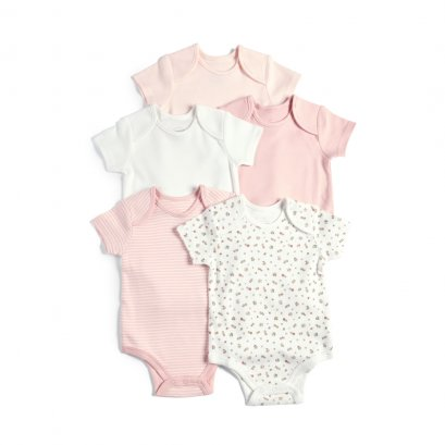 5 Pack Bodysuits - Pink