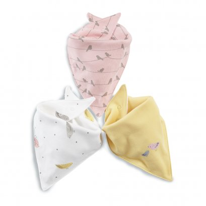 Bird Bandana Bibs (Set of 3)