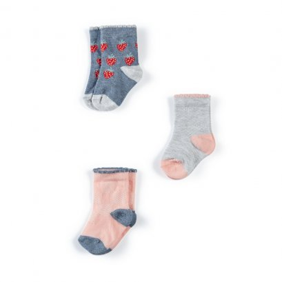 Strawberry Socks - 3 Pack (*SIZE / STOCK ที่ไลน์ :@mommories )