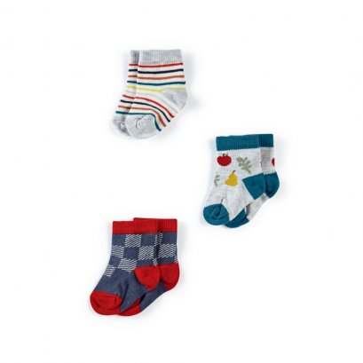 Fruit Socks - 3 Pack (*SIZE / STOCK ที่ไลน์ :@mommories )