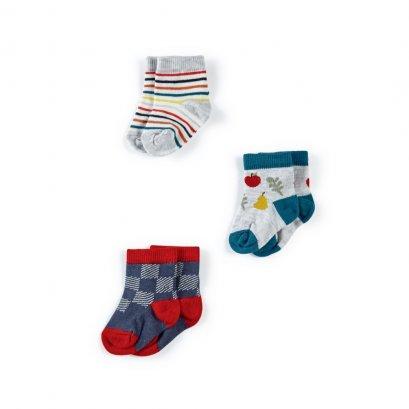Fruit Socks - 3 Pack (*SIZE / STOCK ที่ไลน์ :@mommories )