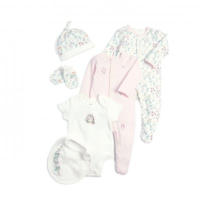 Pink Newborn Essentials - 6 Piece Gift Set (*รบกวนเช็ค SIZE / STOCK ที่ไลน์ :@mommories )