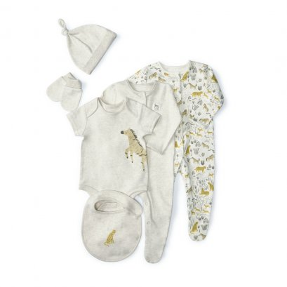 Sand Welcome to the World Clothing Gift Set - 6 Pieces