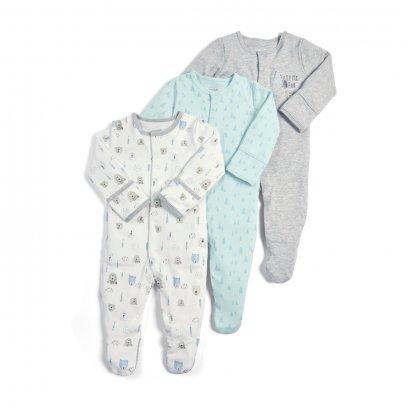 Bear Sleepsuits - 3 Pack