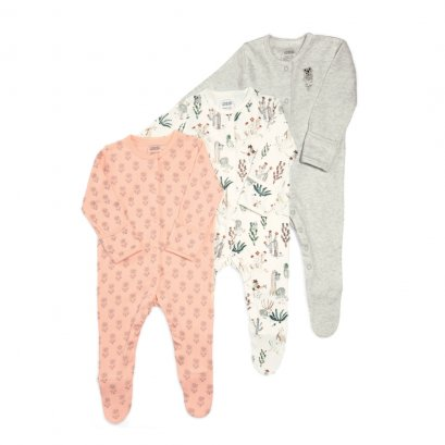 Girls Outback Sleepsuit - 3 pack   (สอบถามสต็อค และ ไซต์ ที่ Line ID :@mommories)