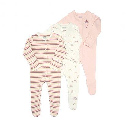 Rainbow Sleepsuit - 3 Pack (สอบถามสต็อค และ ไซต์ ที่ Line ID :@mommories)