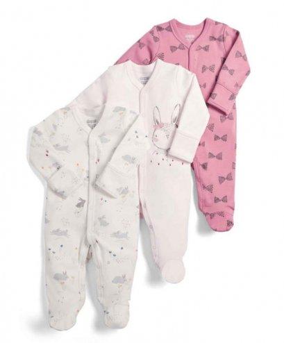 Rabbit Sleepsuit - 3 Pack (สอบถามสต็อค และ ไซต์ ที่ Line ID :@mommories)