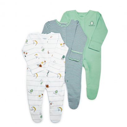 Fruit Jersey Sleepsuits - 3 Pack