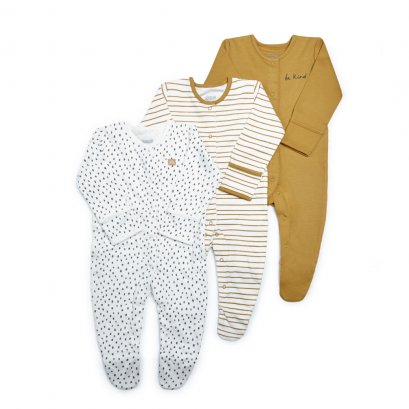 Be Kind Jersey Sleepsuits - 3 Pack  (*รบกวนเช็ค SIZE / STOCK ที่ไลน์ :@mommories )