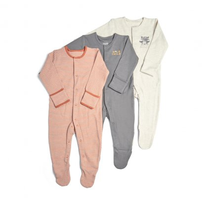 3 Pack Wild Sleepsuits