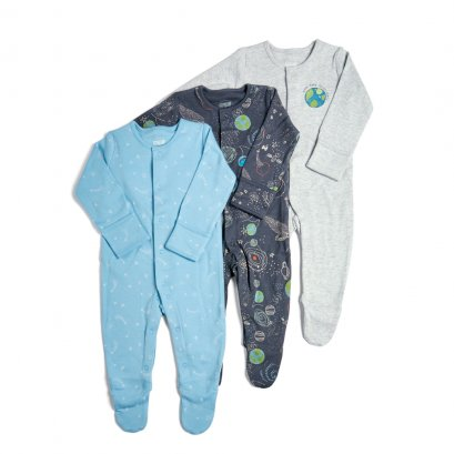 3 Pack Rocket Sleepsuits