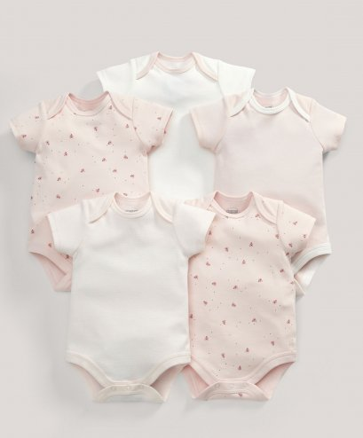 Pink Bodysuits - 5 Pack