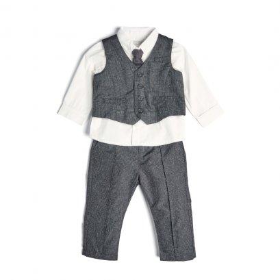 Grey 4pc Suit Set
