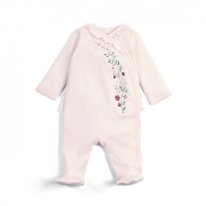 Embroidered Wrap All-in-One (Size 0-3 / 3-6 / 6-9 / 9-12)