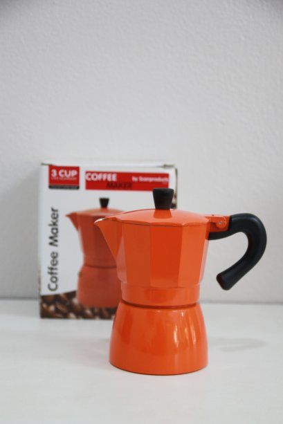 Moka Pot 3 cups Orange