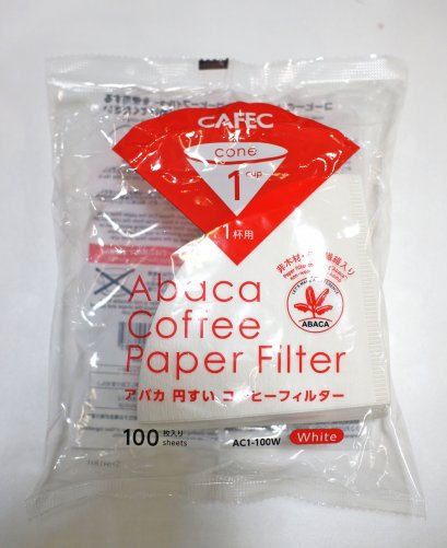 CAFEC Abaca paper Filter 1 Cup