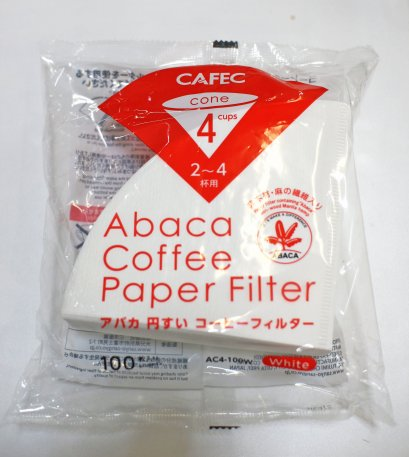 CAFEC Abaca paper Filter 4 Cups
