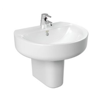 Concept Sphere Wash Basin with Semi Pedestal - TF-0552/0740