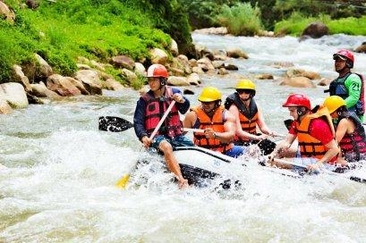 White Water Rafting & Elephant Trekking