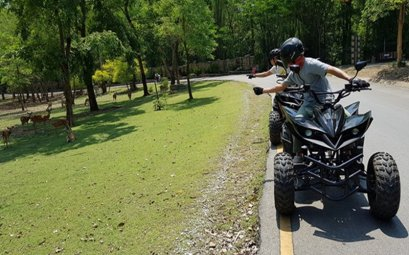 Electric ATV with the Jungle Rider