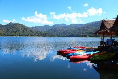 Biking & Canoeing At The Lake