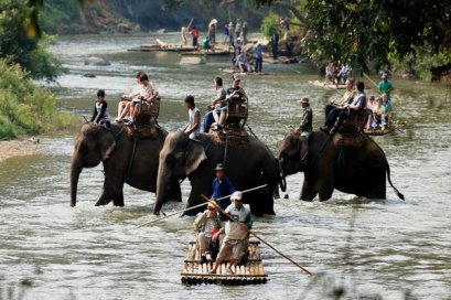 One Day Elephant Safari & Visit Karen Longneck Village, Northern Trip, Chiang Mai Thailand