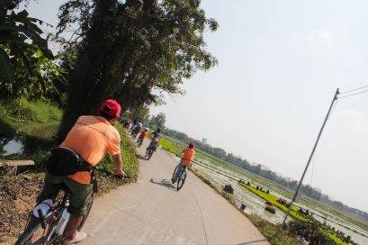 兰纳村庄自行车骑行