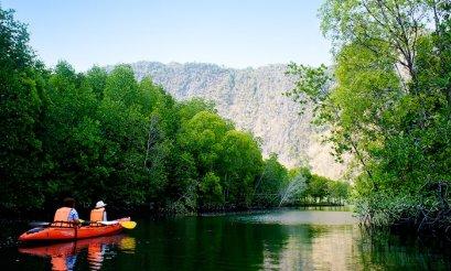 Kayaking at Thalane Bay & Elephant Trekking