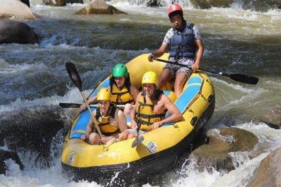 White Water Rafting & Waterfall
