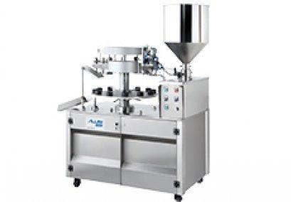 Semi auto metal/aluminium tube filling and sealing machine