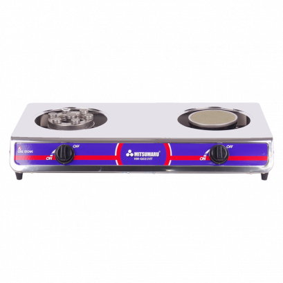 Double head gas stove