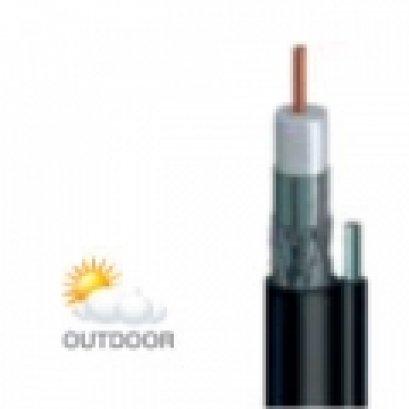 สายนำสัญญาณรุ่น : CCTV500M  สีดำ  มีสลิง ยี่ห้อ LEOTECH (dBy)