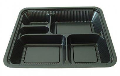 กล่องอาหารใหญ่ 5 หลุม PS/PET