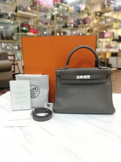 Used​ -​ Hermes Clemence​ Kelly ของแท้