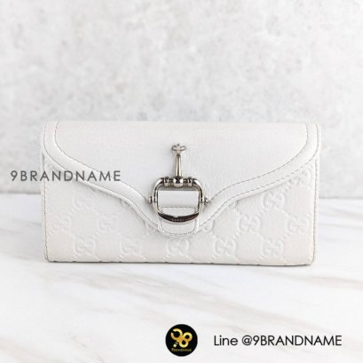 Gucci  Long Wallet Lether White Color