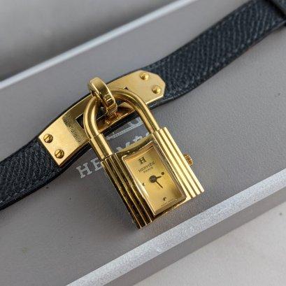 Used  : Hermes Kelly Watch / Epsom / Black