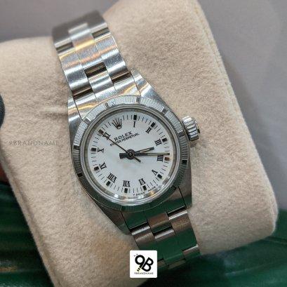 Used Rolex Oyster Perpetual Steel หลักขีด+โรมัน10ข้อ หน้าขาว