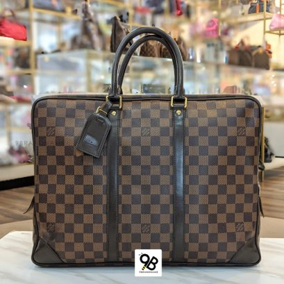 Used - Louis​ Vuitton​ Porte​-Documents​ Voyage​  Damier  Macassar​ Canvas​ Year​ : 2013