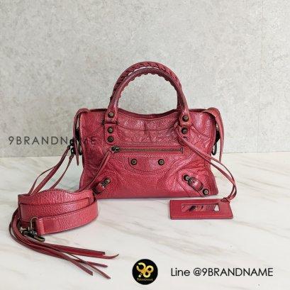 Balenciaga City Lamb Red Pink RHW Size : Mini