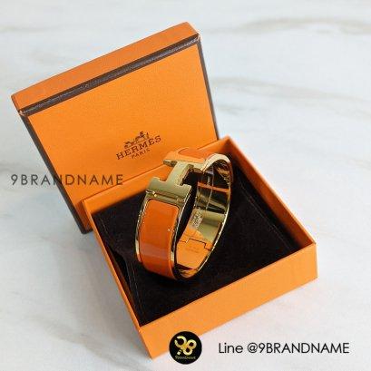 Hermes กำไลข้อมือสีส้ม