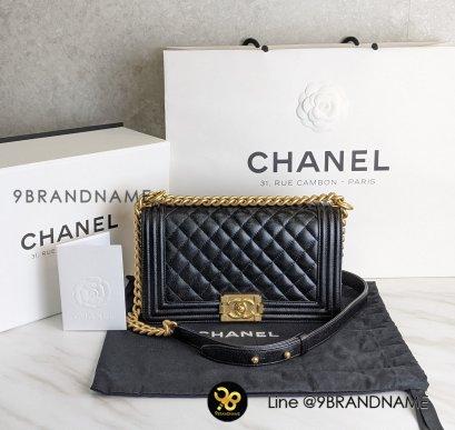 "Like New - Chanel Boy 10"" Caviar Black GHW Matte"