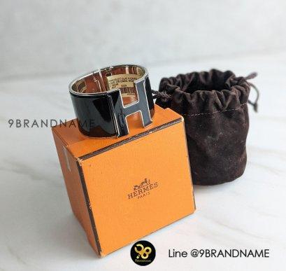 Hermes Bracelet Clic Clac Black SHW