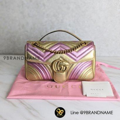 Gucci Marmont Lamb ทอง/ชมพู สีเมโทลิค