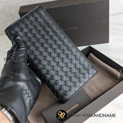 newwww bottega long wallet สีดำ