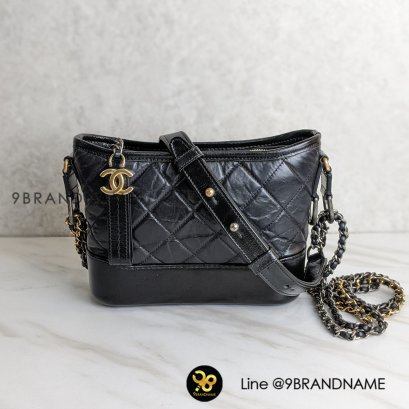 Used - Chanel Gabrielle Black GHW​ Lamb skin