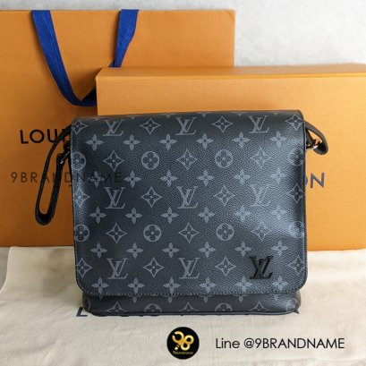 Used​ Like​ New​ - Louis Vuitton​ District​ PM​ Messenger​ Bag​ Monogram Eclipse​ Canvas​